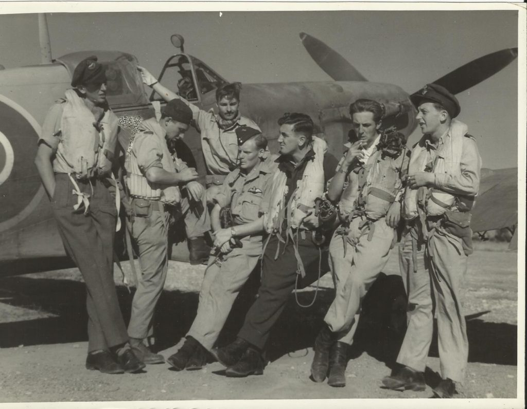 john wall-2nd left%2c 32 sqn Araxos greece 1944